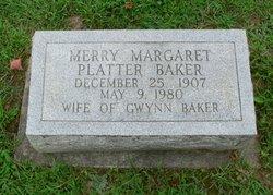 Merry Margaret <i>Platter</i> Baker