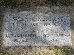Sarah Nevada <i>Stone</i> Matthews