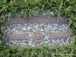 Anna E <i>Hahn</i> Ayers