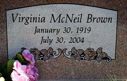 Virginia <i>McNeil</i> Brown