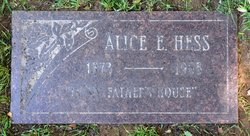 Alice E Hess