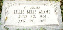 Lillie Belle <i>Johnson</i> Adams
