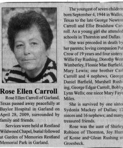 Rose Ellen Carroll