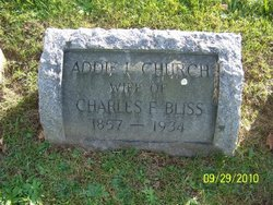 Addie L <i>Church</i> Bliss