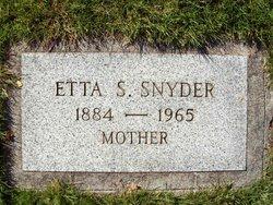 Etta Silvia <i>Rothermel</i> Snyder