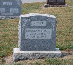 Rebecca W <i>Ditzler</i> Bedger