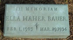 Ella <i>Maher</i> Bauer