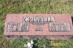 Mary Amanda F. <i>Burnett</i> Criswell