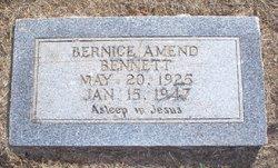 Lillie Bernice <i>Amend</i> Bennett