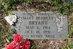 Mary <i>Hendley</i> Bryant