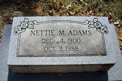 Nettie Mae <i>Morris</i> Adams