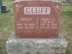 Mary E. <i>Wildes</i> Cluff