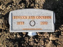 Rebecca Ann Becky <i>Wilcox</i> Cockrum