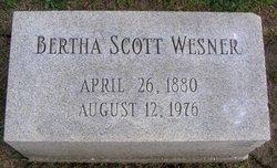 Bertha Veda <i>Scott</i> Wesner