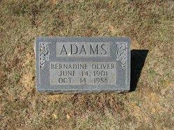 Bernadine <i>Oliver</i> Adams
