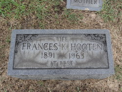 Frances E. Fannie <i>Knight</i> Hooten