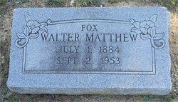 Walter Matthew Fox
