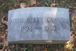 Addie Berry <i>McClure</i> Cannon