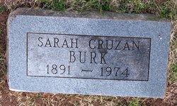 Sarah <i>Pogue</i> Cruzan Burk