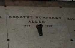 Dorothy A <i>Humphrey</i> Allen