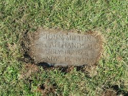Dr John Milton Allhands