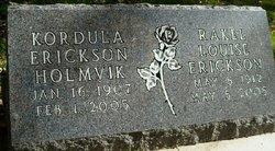 Kordula Sofia <i>Erickson</i> Holmvik