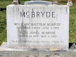 Rev John Malcolm McBryde