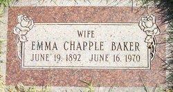 Emma <i>Chapple</i> Baker