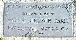Mae M <i>Johnson</i> Baril