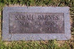 Sarah Jane <i>Hayes</i> Barnes