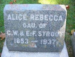 Alice Rebecca Strout