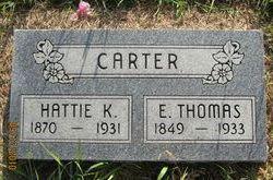 Harriet Hattie <i>Kirtley</i> Carter