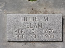 Lillie May <i>Johnston</i> Elam