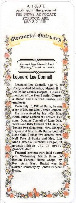 Leonard Lee Connell