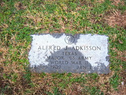 Maj Alfred Jerry Boots Adkisson