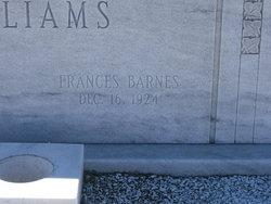 Frances <i>Barnes</i> Williams