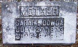 Sarah L <i>Ezzard</i> Dowda