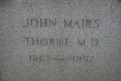 Dr John Mairs Thorne