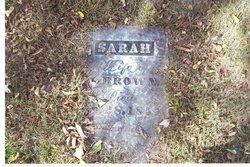 Sarah <i>Stouder</i> Brown