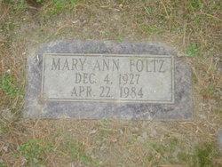 Mary Ann <i>McMurray</i> Foltz