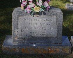 Mary <i>Alvis</i> Adams