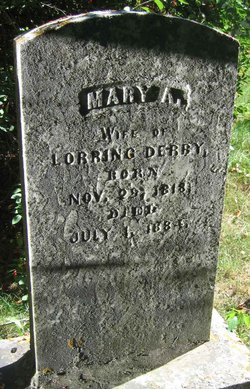 Mary A. <i>Howe</i> Derby