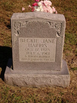 Beckie Jane <i>Walker</i> Harris