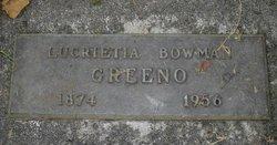 Lucrietia <i>Bowman</i> Greeno