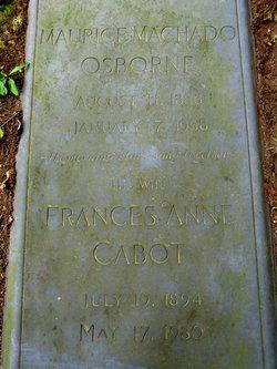 Frances Anne Nancy <i>Cabot</i> Osborne