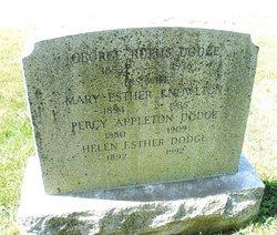 Mary Esther <i>Knowlton</i> Dodge