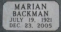 Marian <i>Backman</i> Boulton