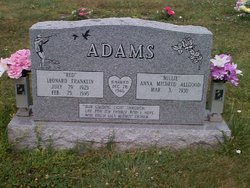 Leonard Franklin Red Adams