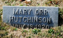 Mary <i>Orr</i> Hutchinson