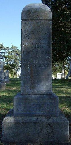 Mary E. <i>Marlatt</i> Carter